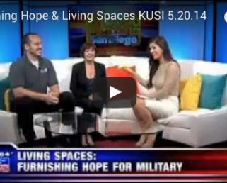 Video Furnishing Hope & Living Spaces KUSI 5.20.14